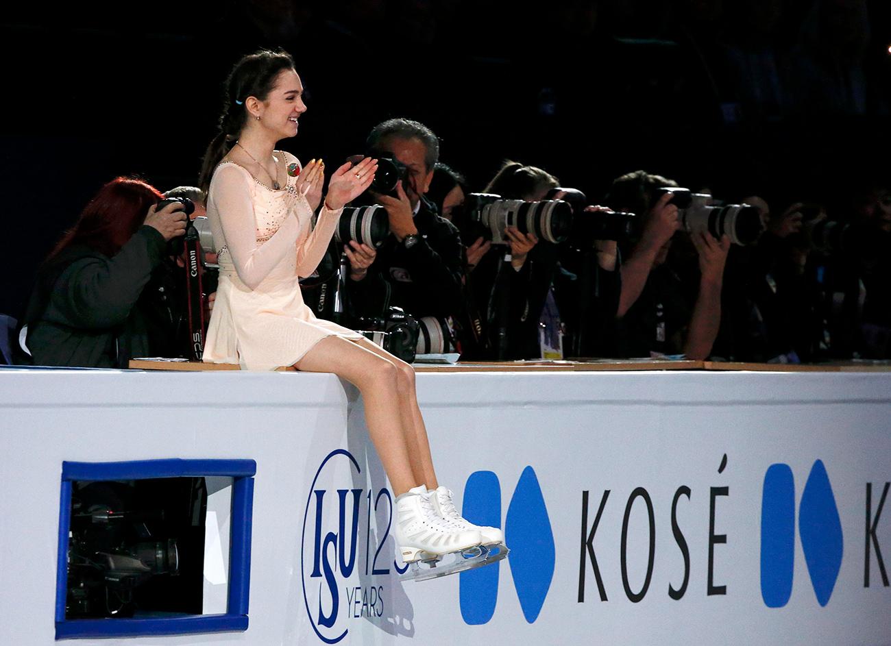 Evgenia Medvedeva à Helsinki. Crédit : Reuters