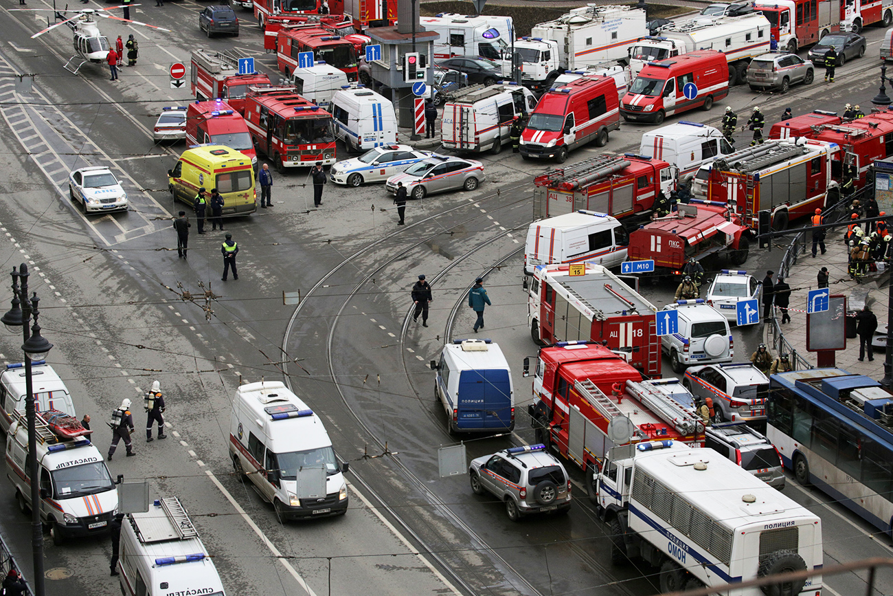Città blindata dopo l'esplosione avvenuta nella metropolitana. Fonte: Reuters