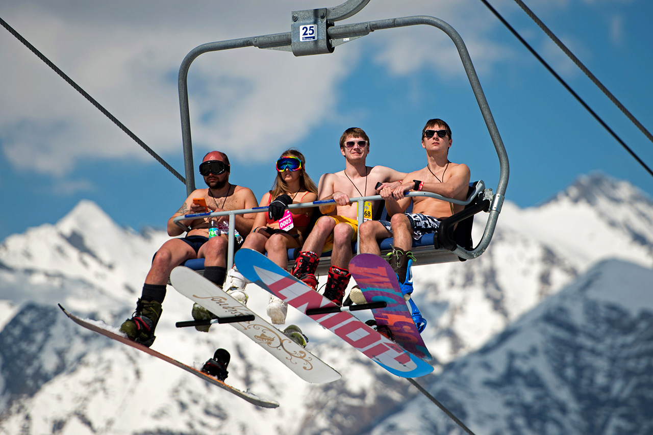 We hope they felt warmer on the slope than during the chilly ride on the chair lift.