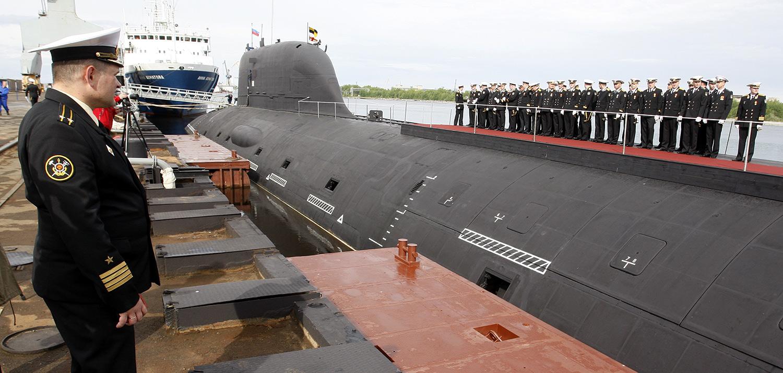 """Подводницата """"Ясен"""" в Северодвинск."""