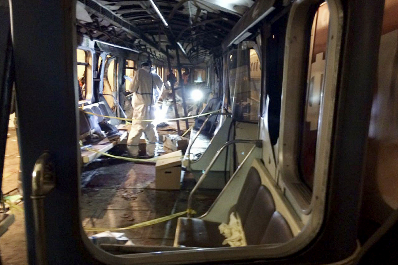 Train car, where the explosion took place. / Photo: Russian Archives/Global Look Press