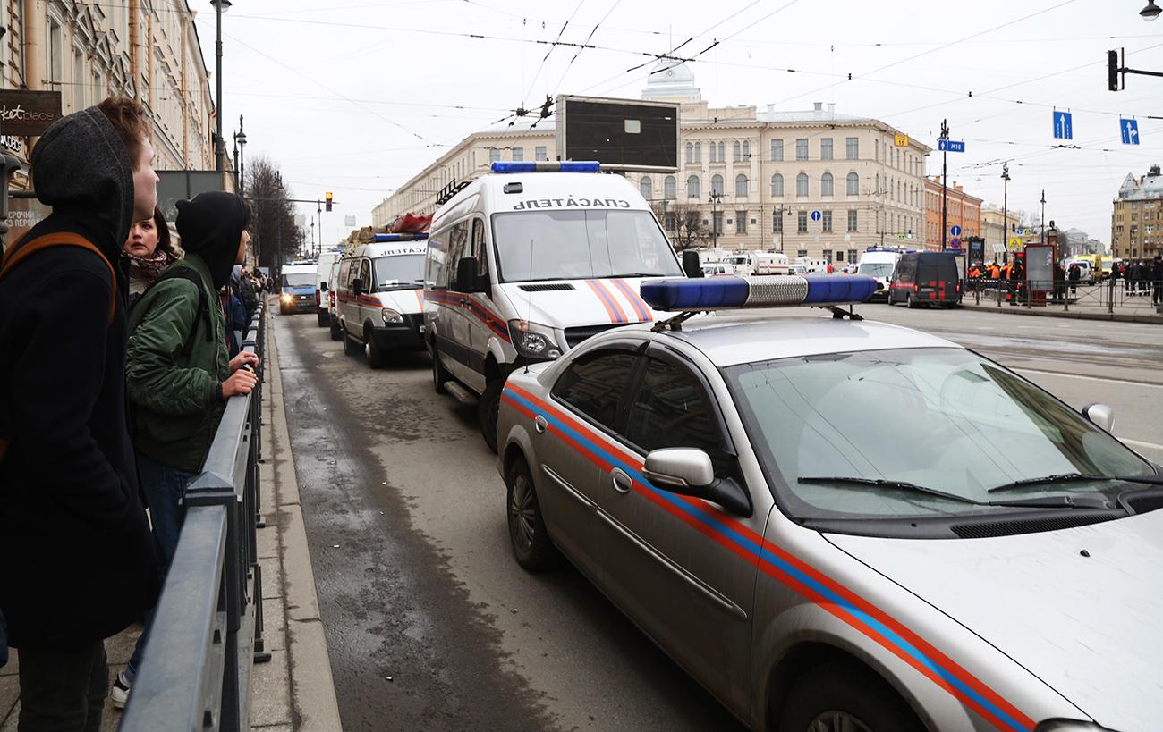 Situation à Saint-Pétersbourg à la suite de l'attaque du 3 avril. Crédit : Victoria Viatris/RIA Novosti