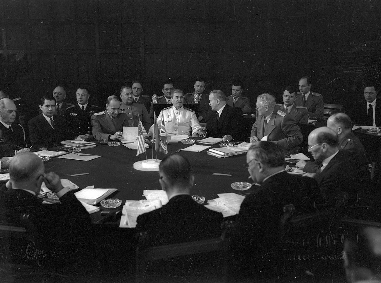 Потсдамская конференция. Июль. 1945