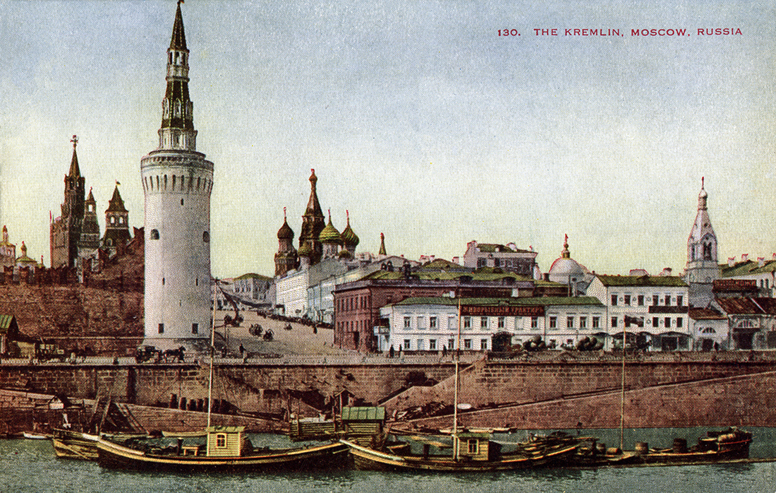 Find 10 differences: Photos of Moscow today and more than a century ago