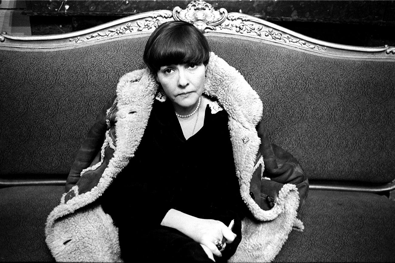 Poetess Bella Akhmadulina.