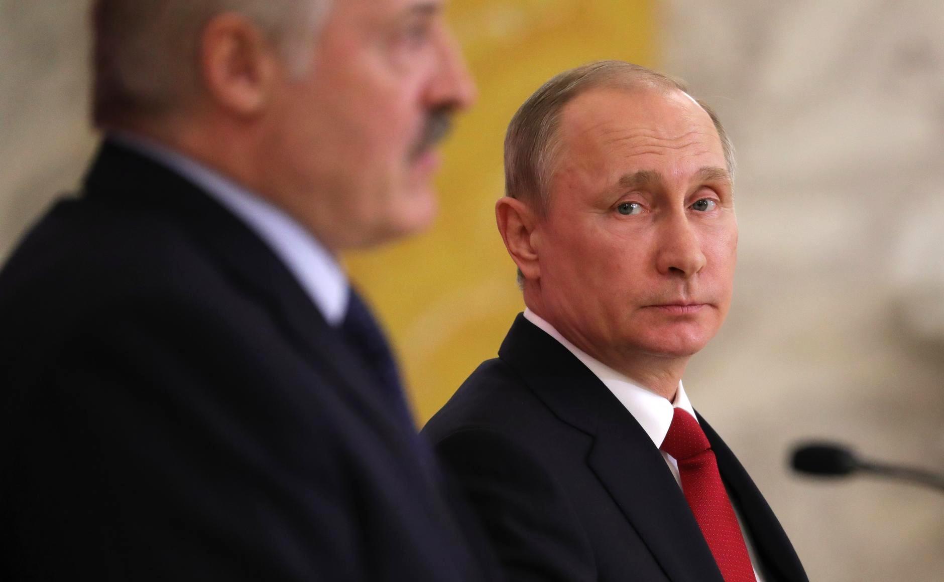 Vladimir Putin and Alexander Lukashenko met on April 3, 2017 in St. Petersburg.