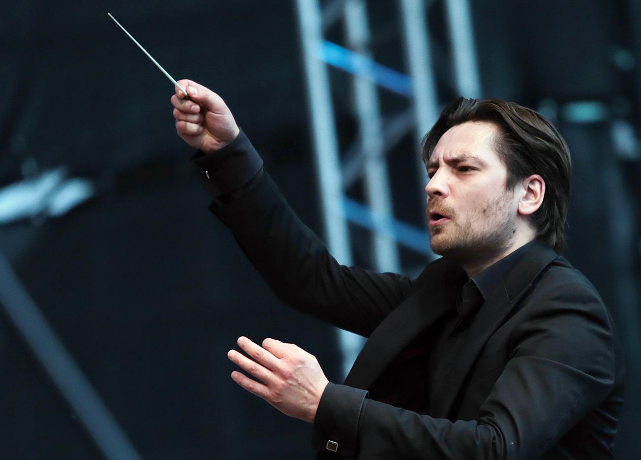 Mikhaïl Tatarnikov, chef d'orchestre et directeur artistique du Тhéâtre Mikhaïlovski de Saint-Pétersbourg.