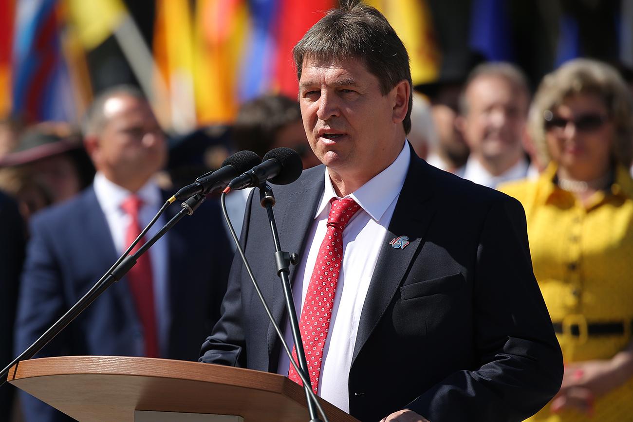 Župan mesta Orjol Vasilij Novikov.