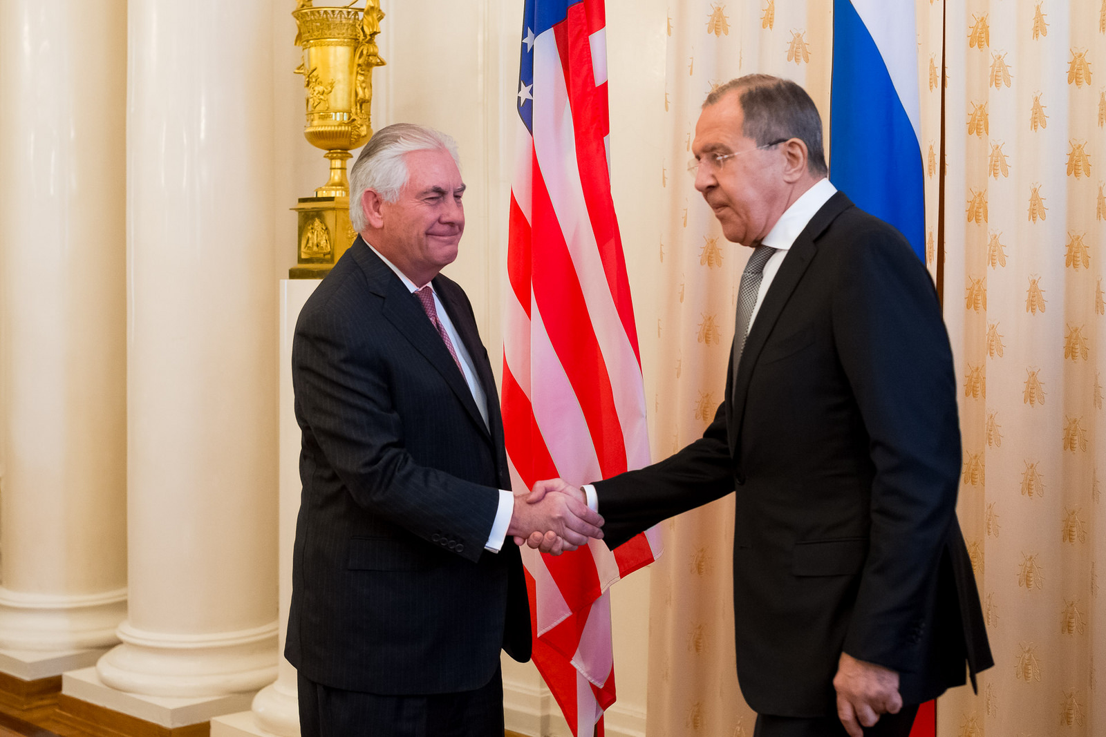 Russian Foreign Minister Sergey Lavrov met with U.S. Secretary of State Rex Tillerson, Moscow, April 12, 2017.