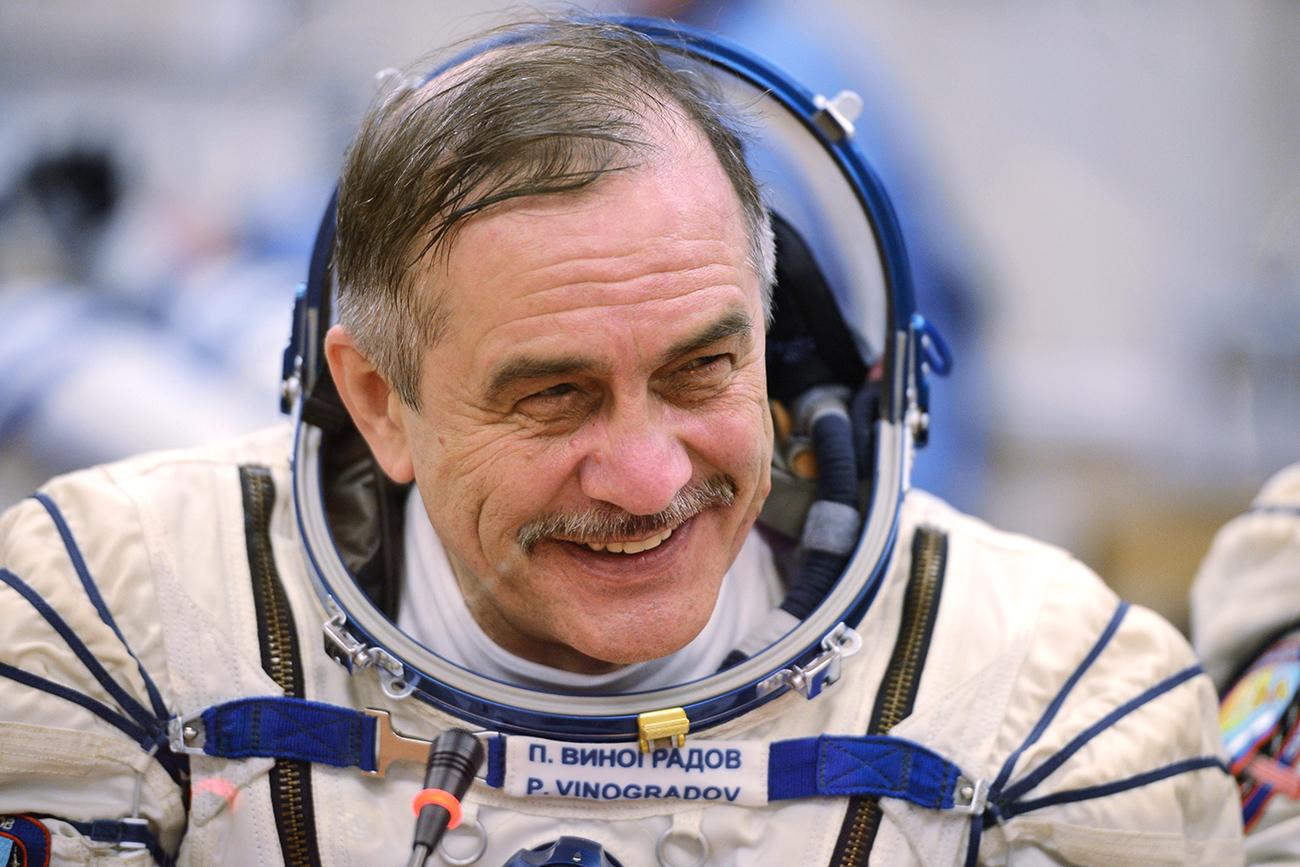 Le cosmonaute russe Pavel Vinogradov. Crédit : Ramil Sitdikov/RIA Novosti