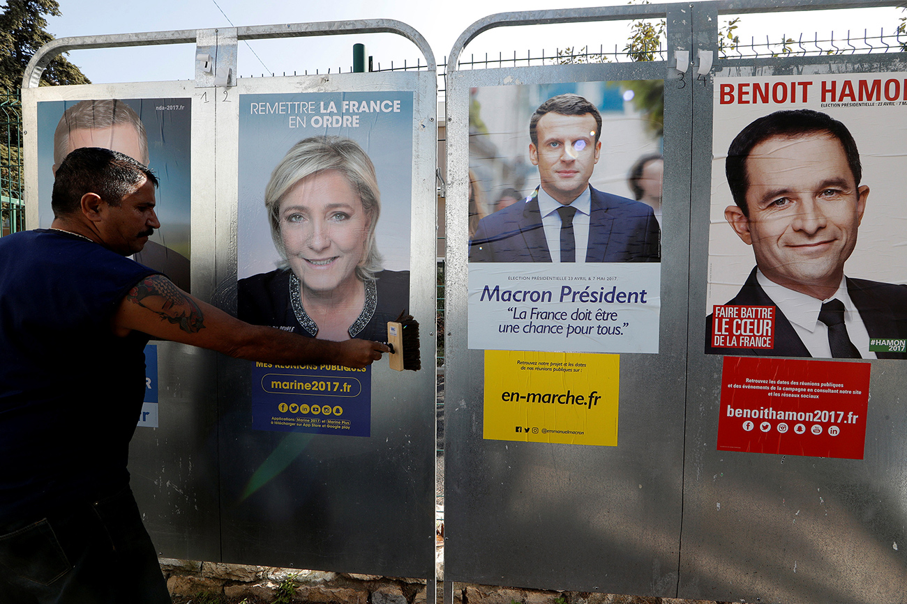 Many Russians are closely following the political developments in France.