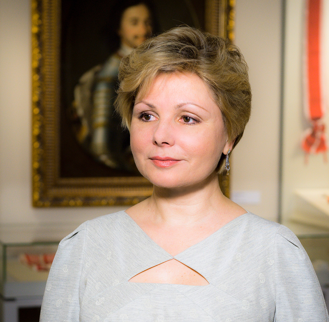 """When I took up the job, no one in the world knew that the Kremlin had a museum."" Photo: Elena Gagarina, art expert and daughter of first cosmonaut Yury Gagarin."