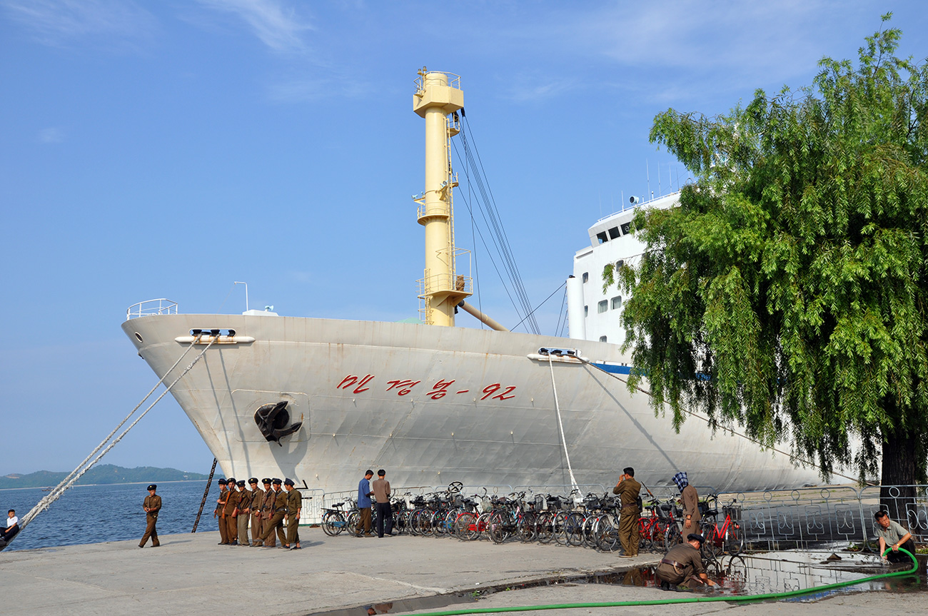 The Man Gyong Bong-92 shuttled between North Korea and the Japanese port of Niigata until 2006.