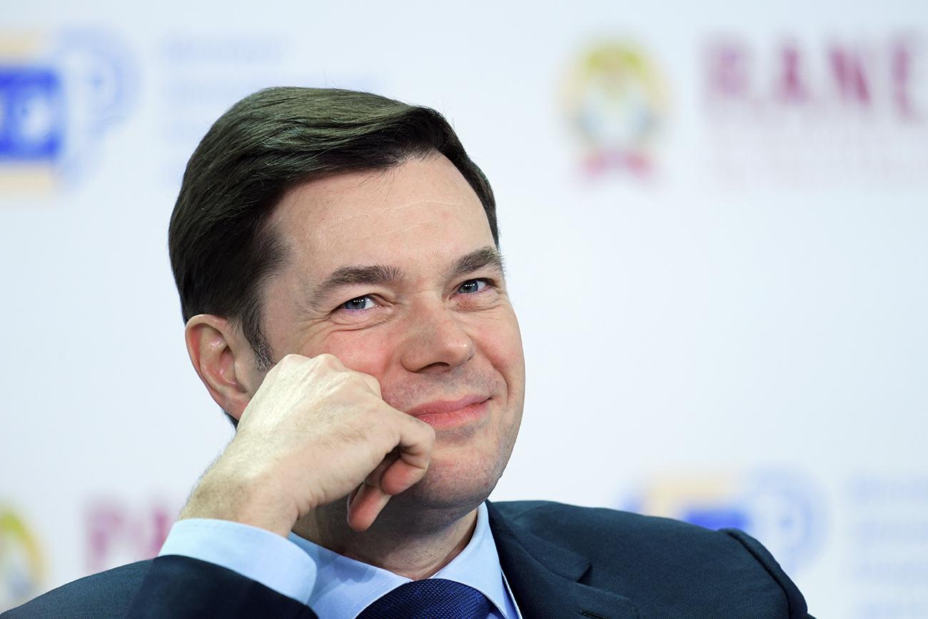 """Алексеј Мордашов, претседател на Бордот на директори на """"Северстаљ""""."""
