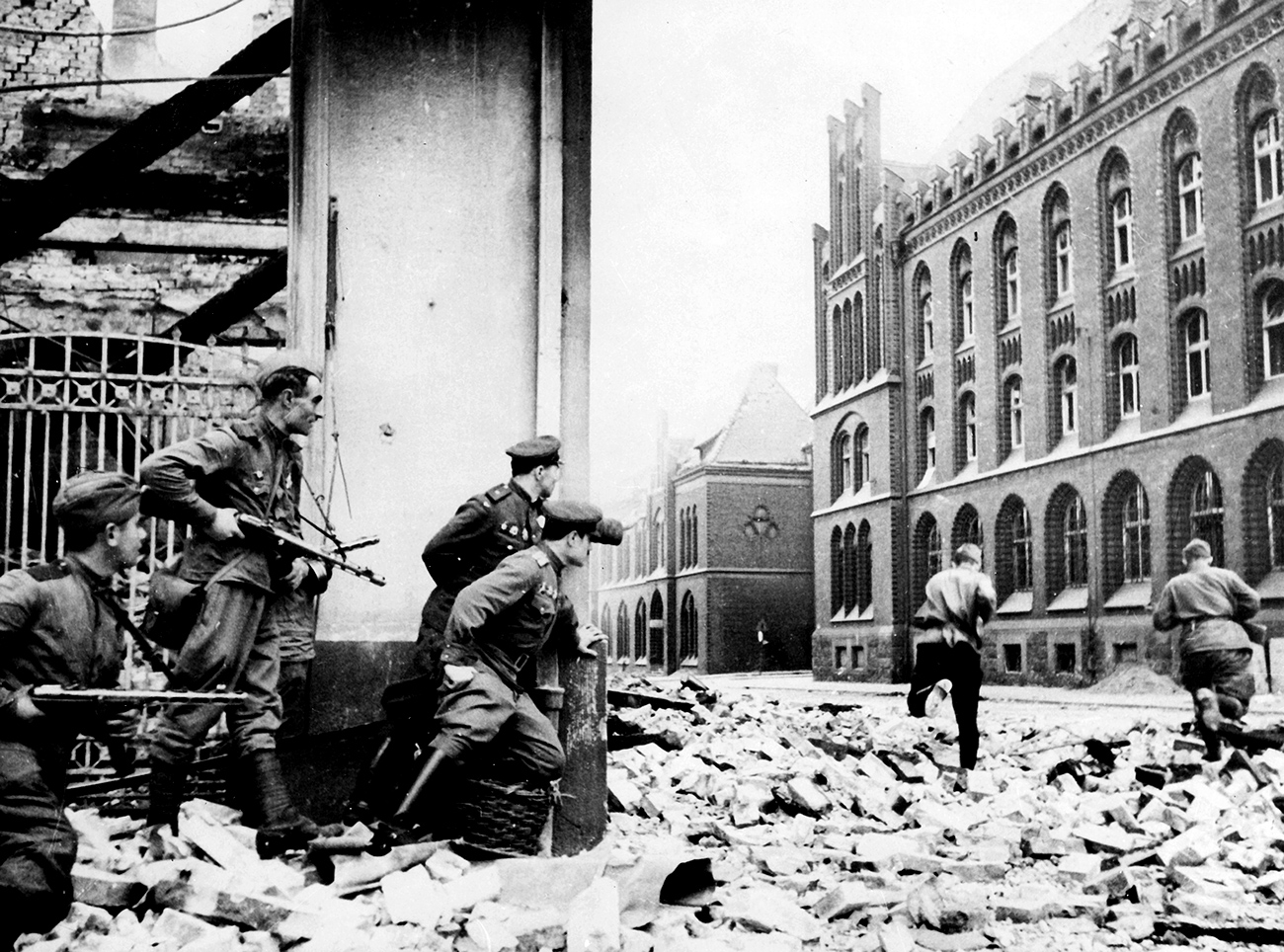 The Red Army in the streets of Berlin, April 1945.
