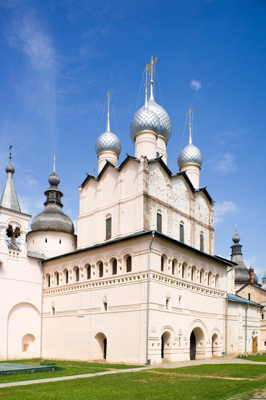 Rostov kremlin. Church of Resurrection. Southwest view. July 12, 2012. / Photo: William Brumfield