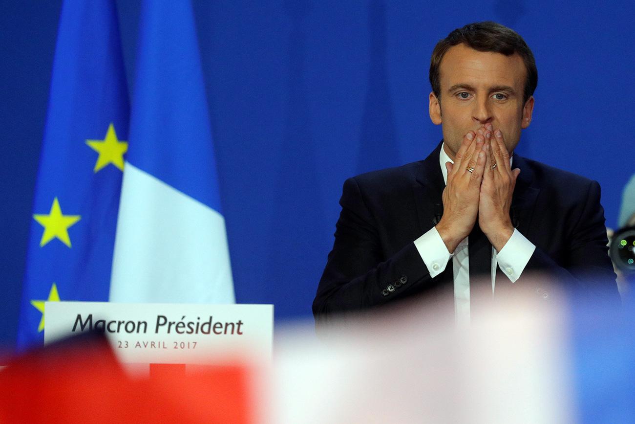 Francoski predsedniški kandidat Emmanuel Macron