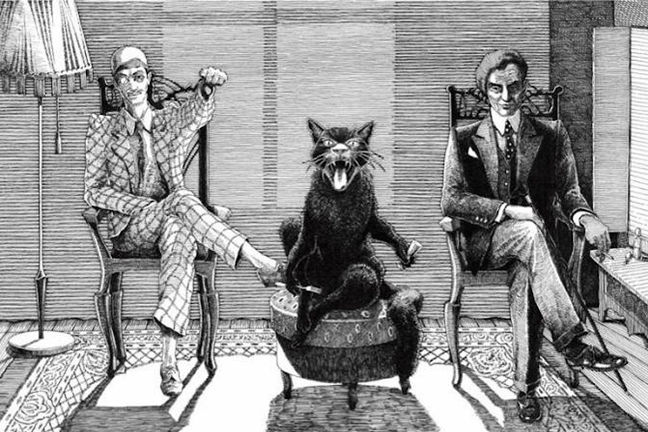 Illustration for 'Master and Margarita' novel by Mikhail Bulgakov
