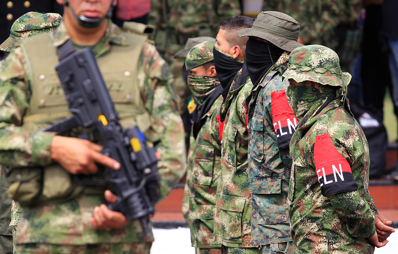 Colombia's insurgent National Liberation Army held a Russian smuggler for six months