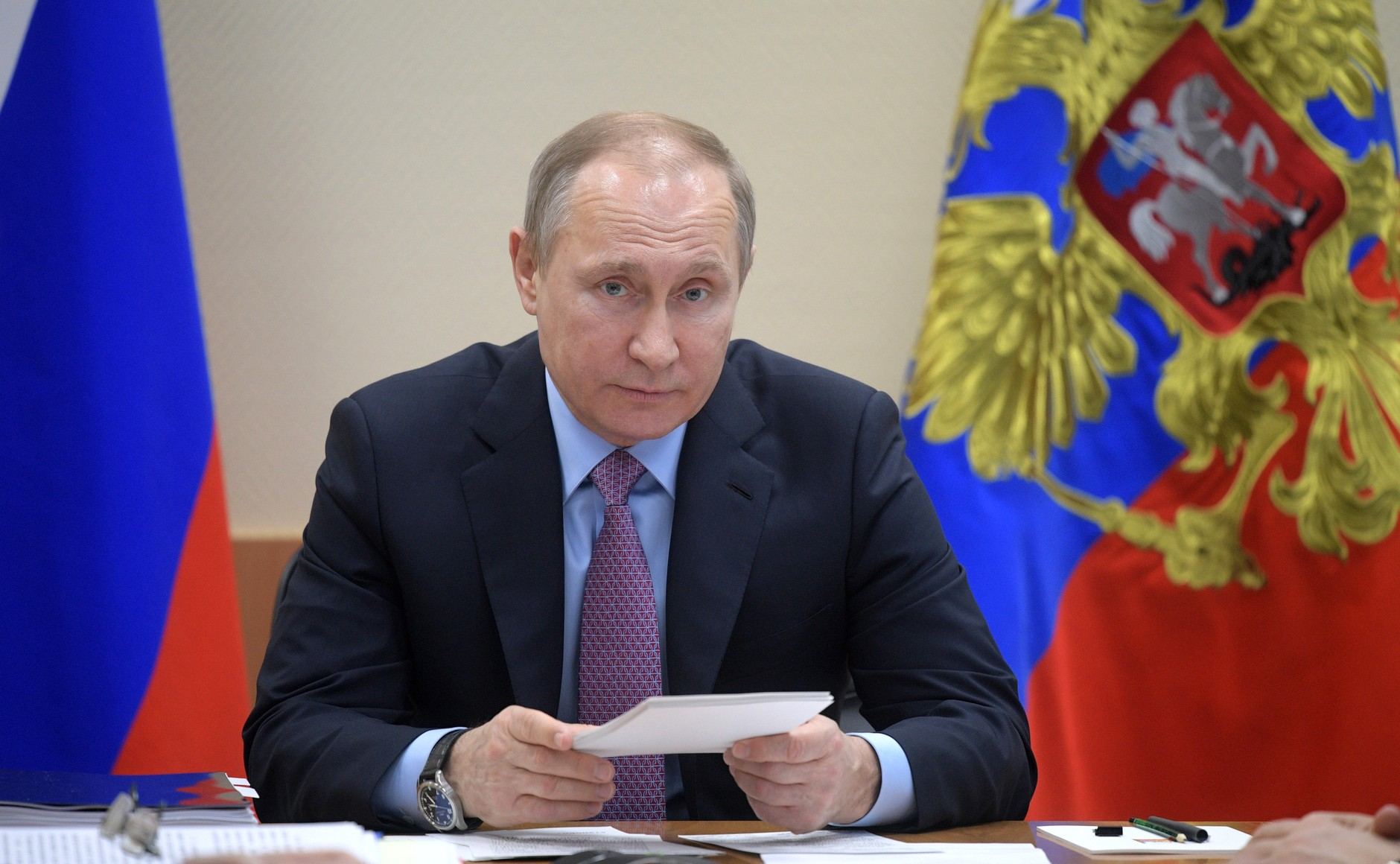 President Vladimir Putin at a meeting of the Military Industrial Commission, April 25, 2017.