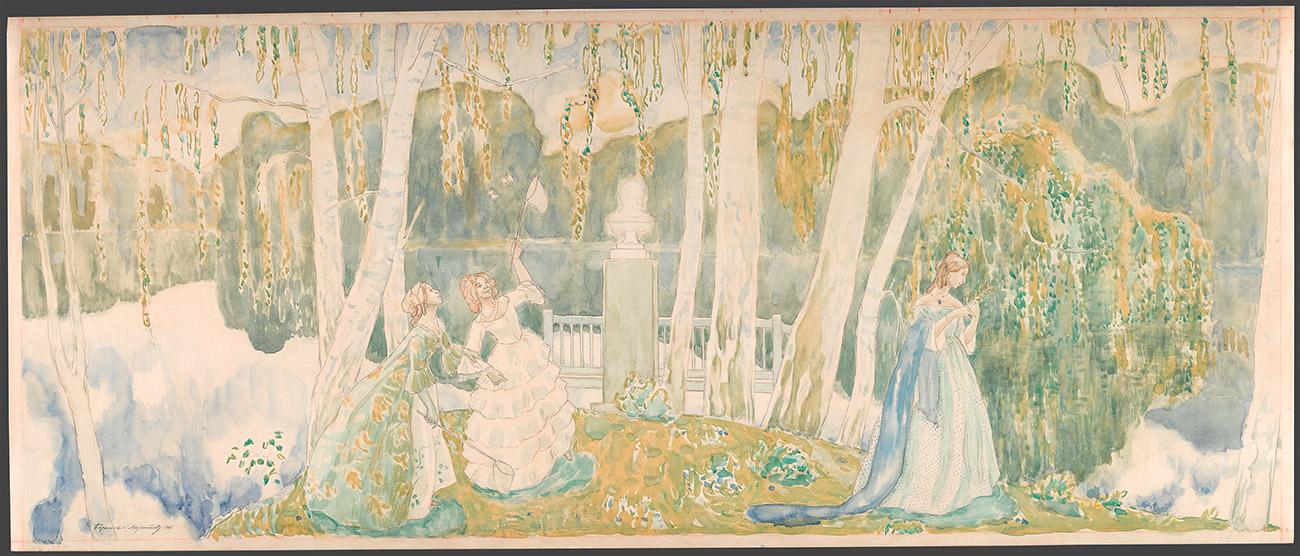 Viktor Borisov-Musatov. Spring faity tale. 1905.\n
