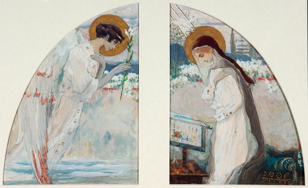 Mikhail Nesterov. Annunciation. 1892.\n