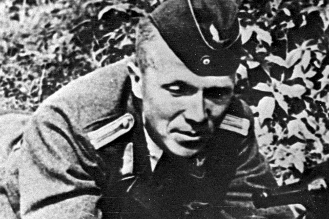 A Soviet guerrilla and scout Nikolai Kuznetsov in a German officer uniform.