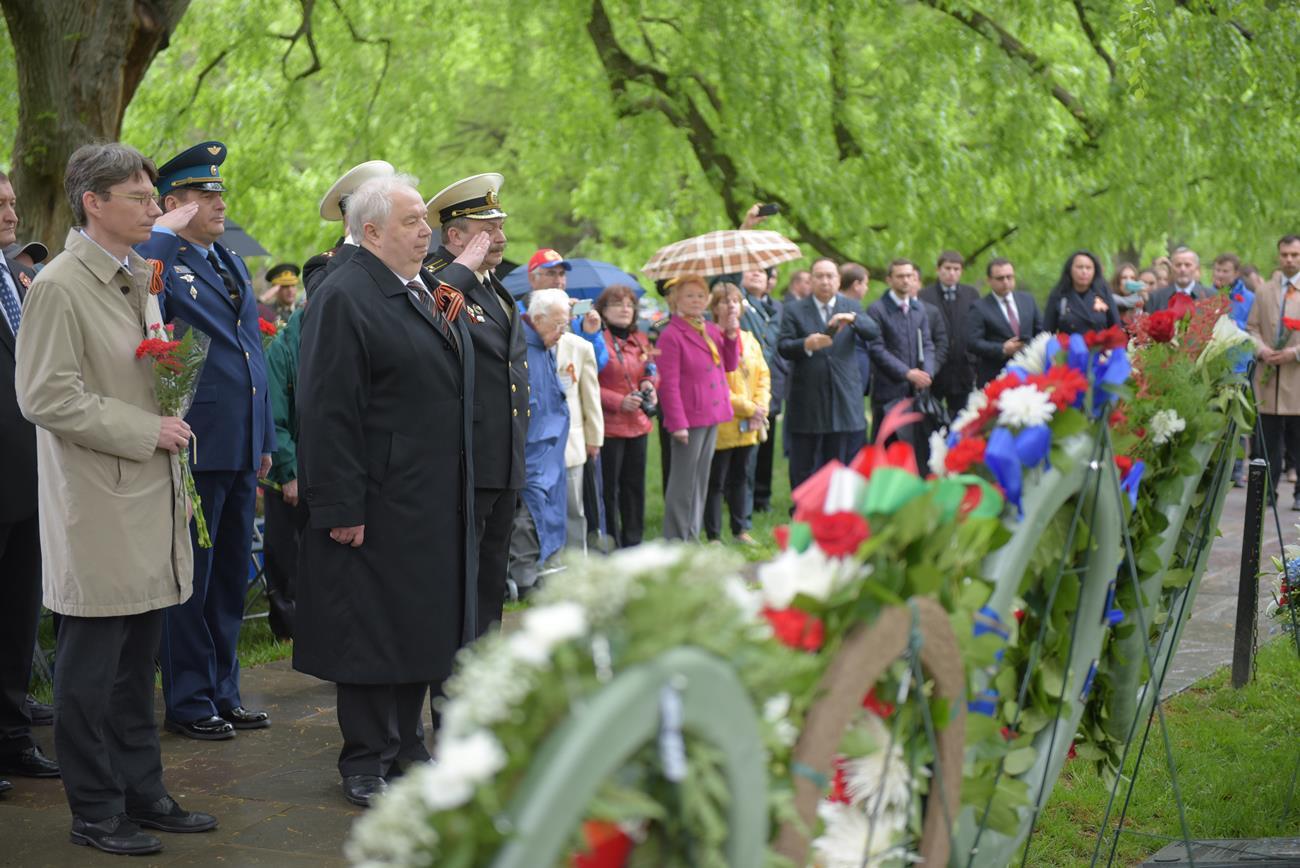 A ceremony at Arlington cemetery dedicated to Elbe Day, April 25, 2017. / Press photo