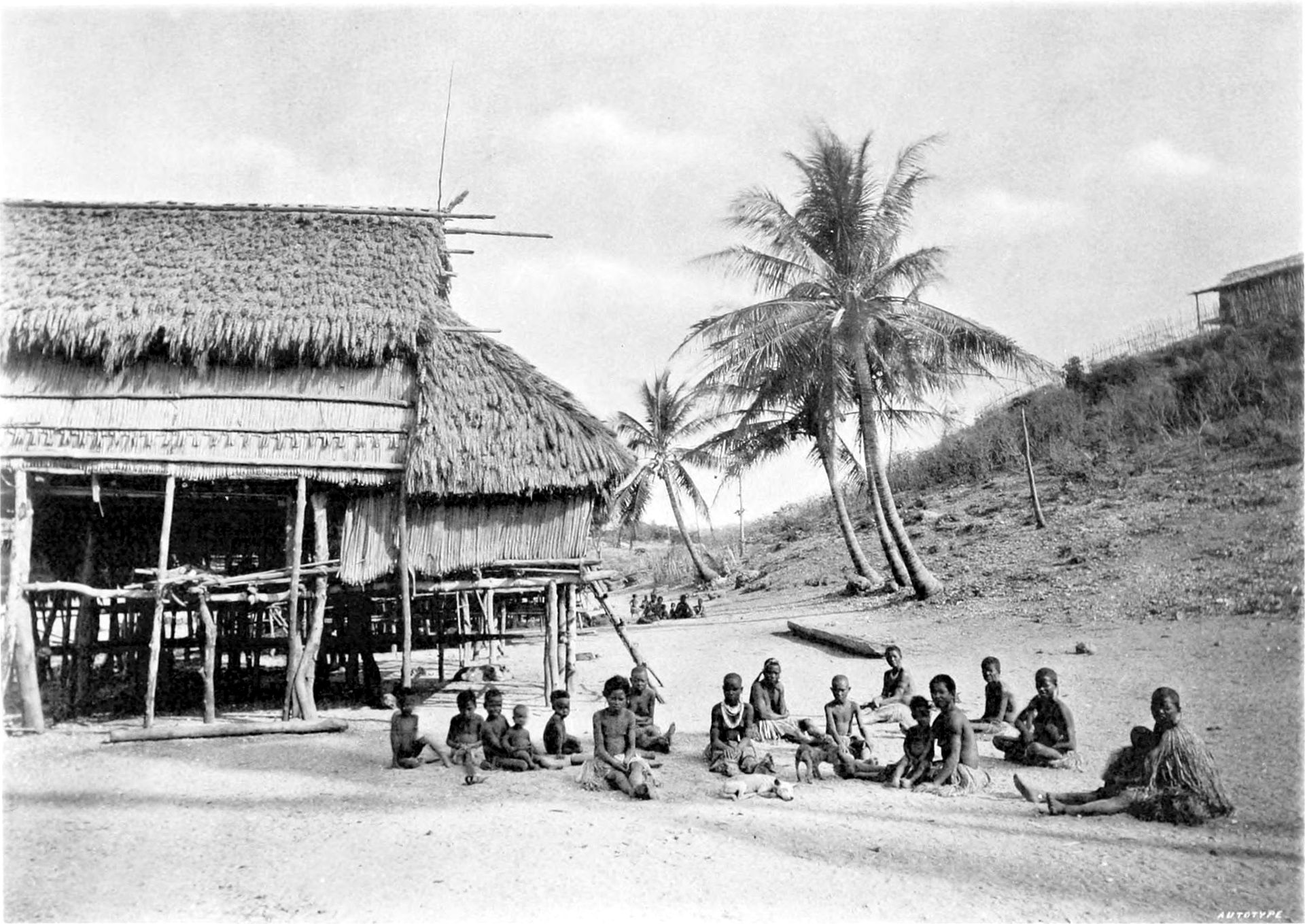 Desa Koiapu, Port Moresby, Guinea Baru Inggris (1885). Sumber: Wikipedia