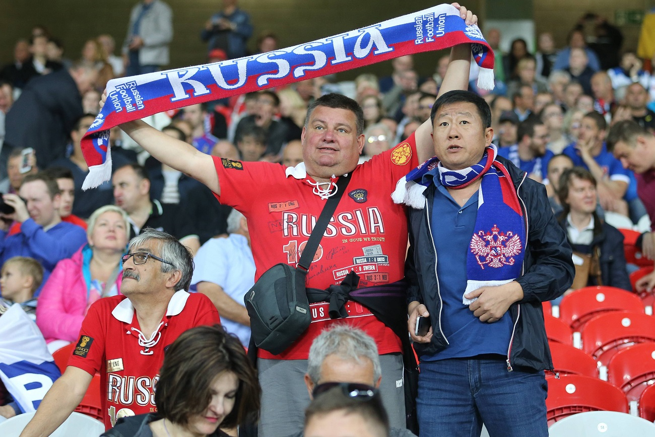 Russian fans during the UEFA European Championship 2016 in France. Source: Global Look Press