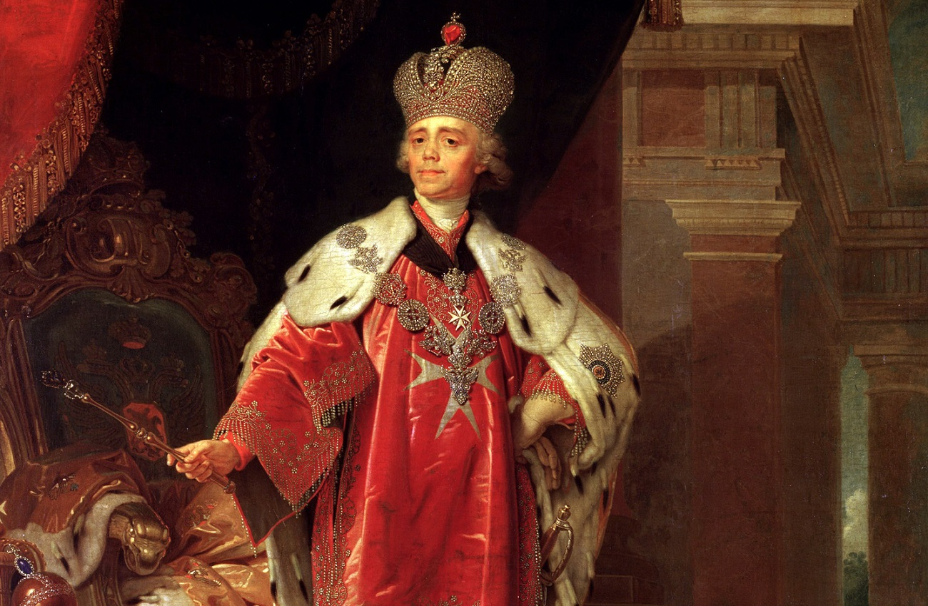 Potret Kasiar Pavel I (1800). Sumber Vladimir Borovikovsky