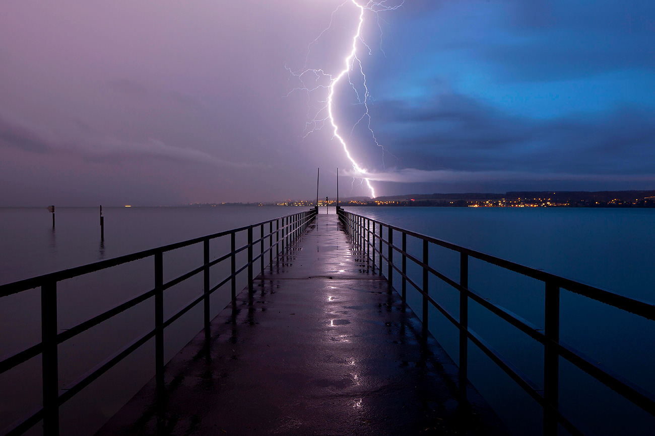 Lightning strikes are not a rare occurance but it does not usually lead to serious consequences. Global Look Press