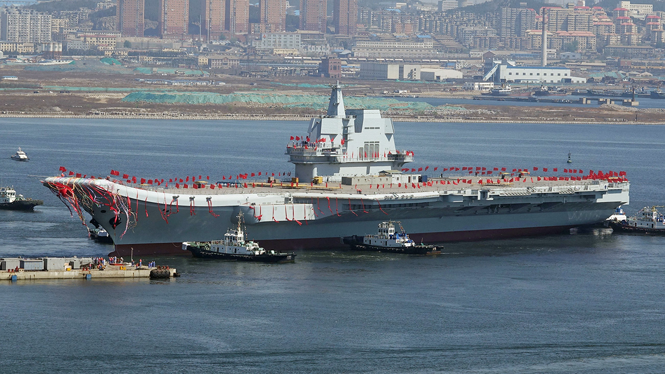 The new Chinese aircraft carrier has powerful striking capabilities thanks to its anti-ship missile complex. It's also can carry an aviation group, a part of which has helicopters that search and destroy submarines. Source: Reuters