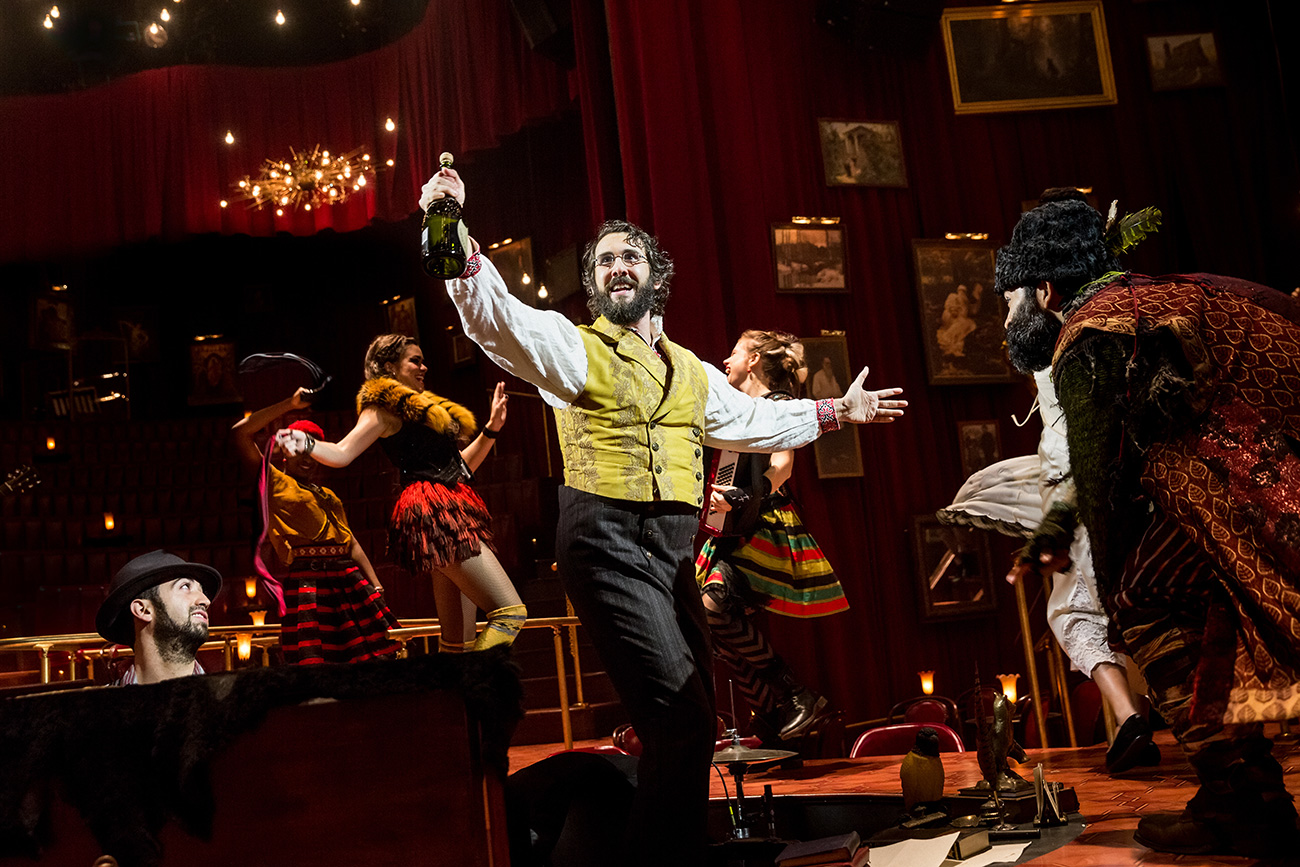 "Josh Groban as Pierre during a performance of ""Natasha, Pierre & the Great Comet of 1812,"" in New York."