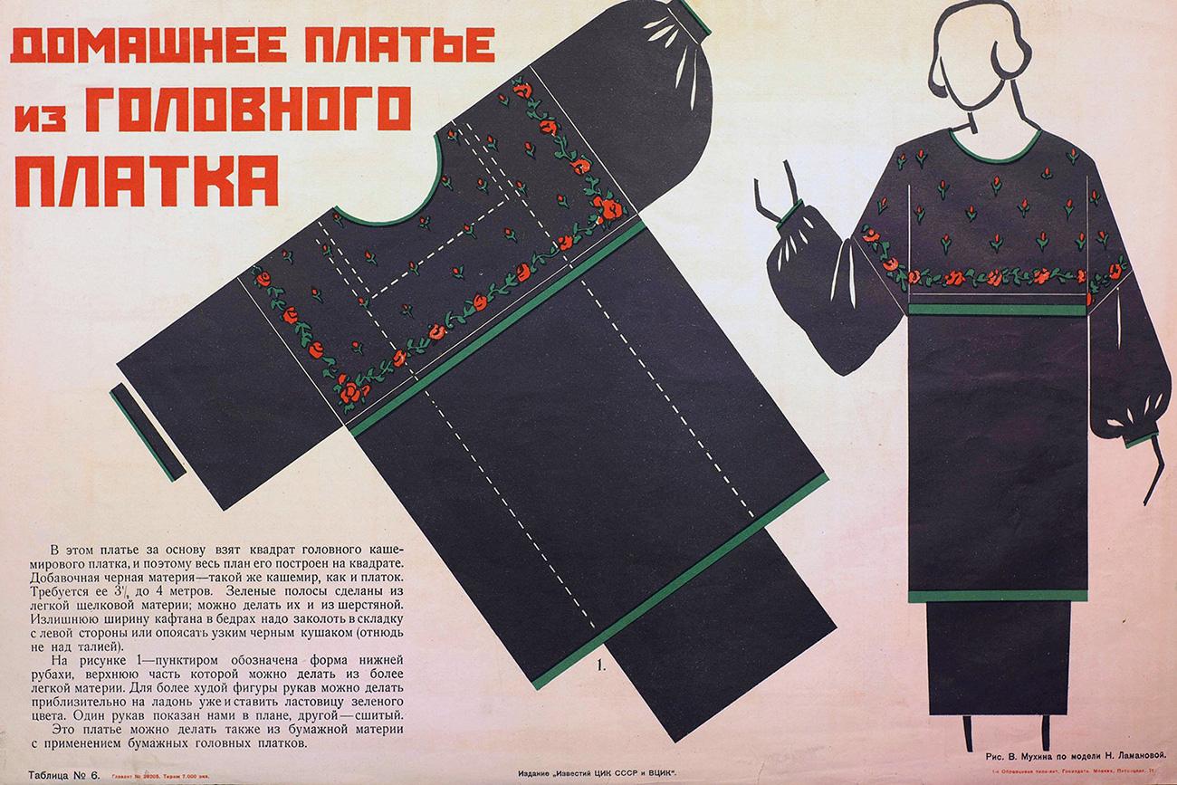 La moda per gli operai e i contadini creata dalla Lamanova. Fonte: foto d'archivio