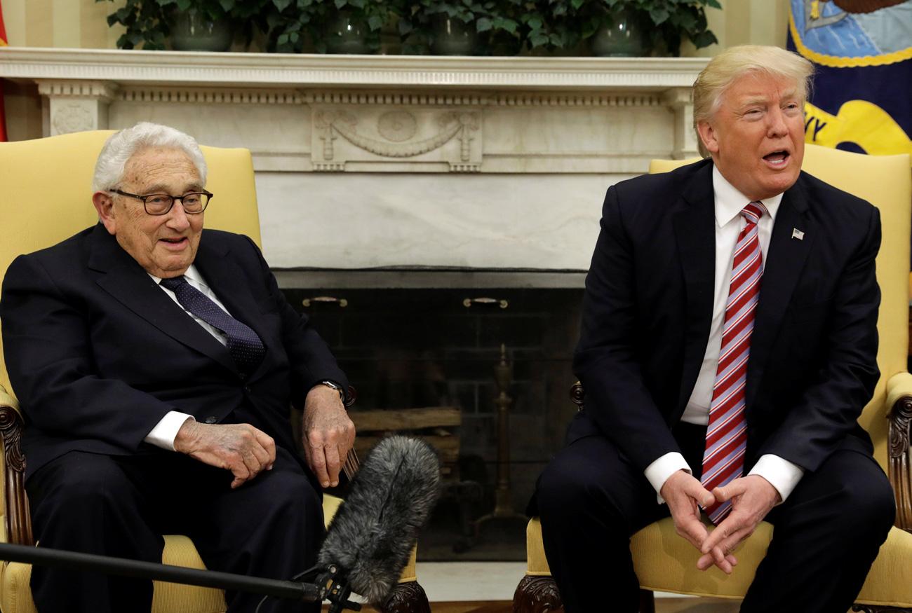 Po srečanju z Lavrovom je Trump v Beli hiši sprejel še razvpitega Henryja Kissingerja.