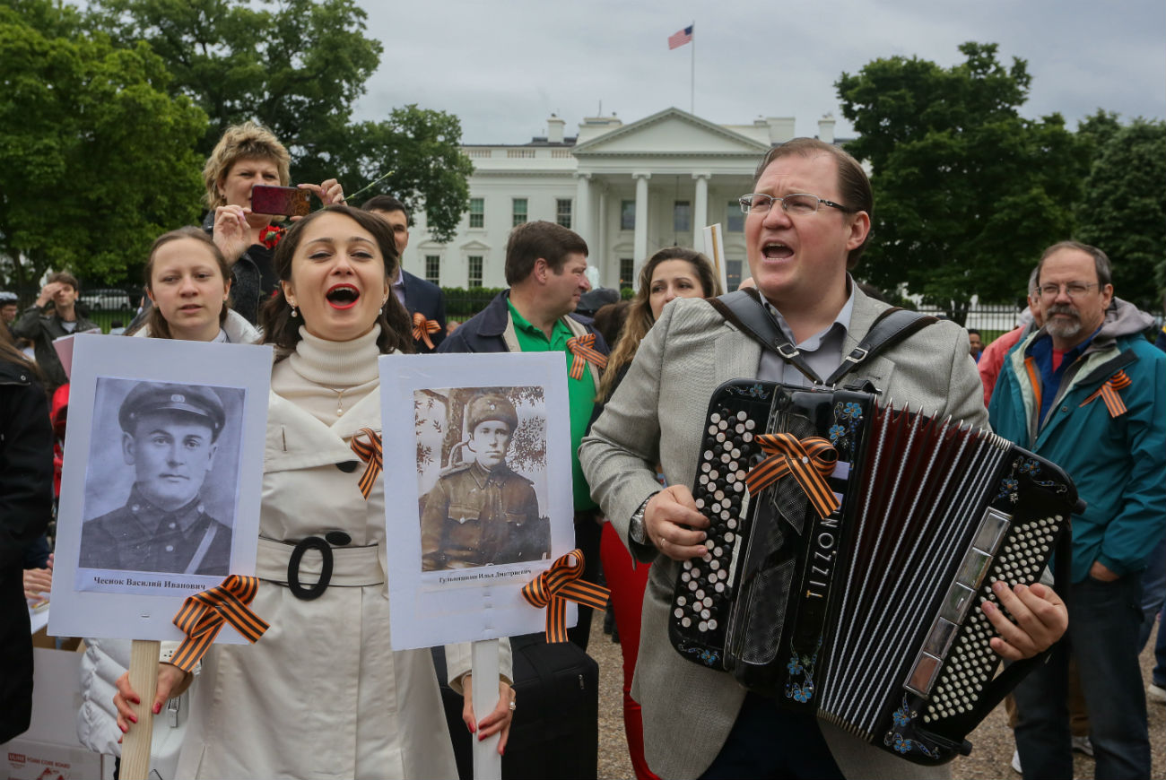 The Immortal Regiment march in Washington DC.