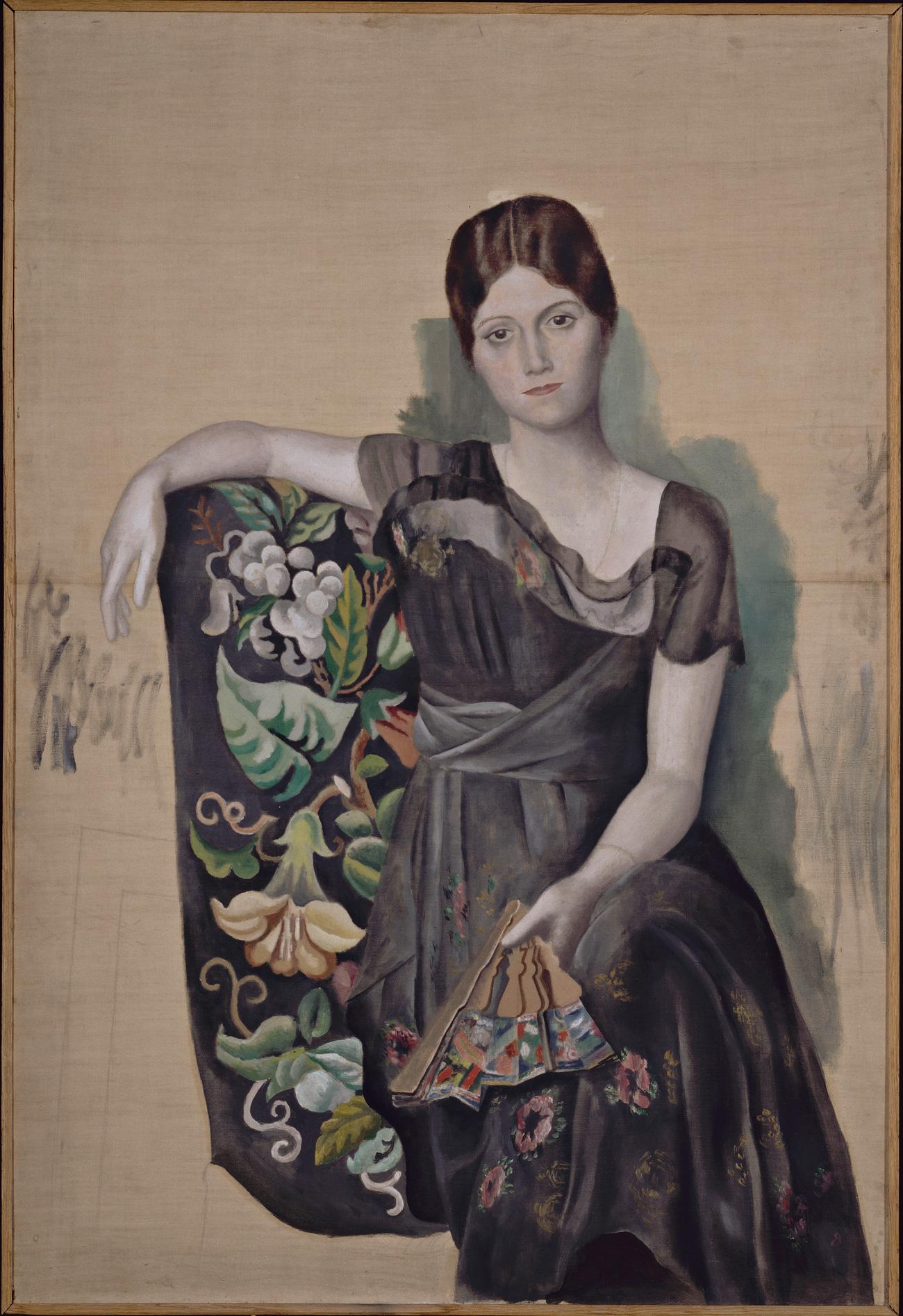 Portrait d'Olga dans un fauteuil,printemps 1918.n