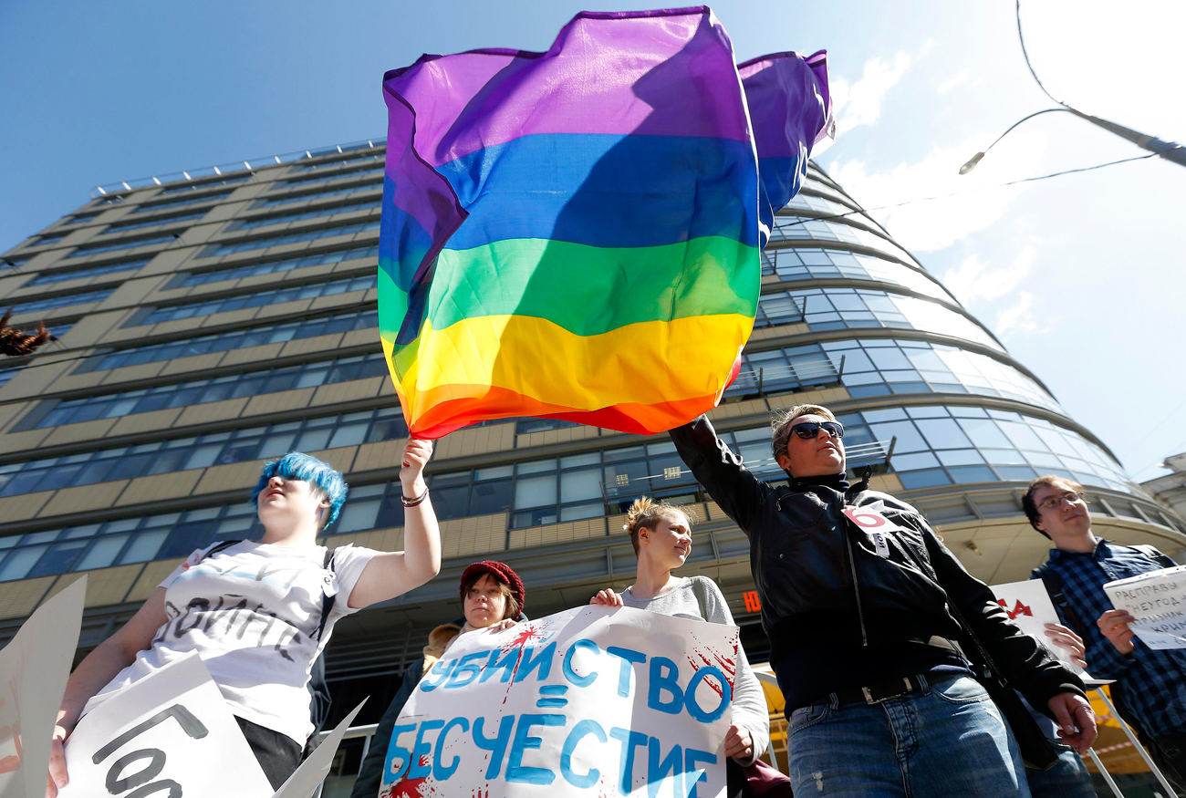 Protesto da oposição no último dia 6 em Moscou também teve aceno à causa gay