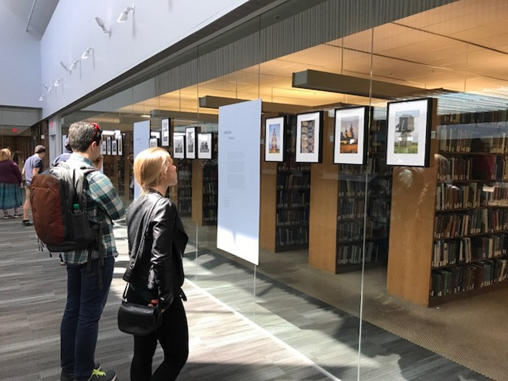 The exhibition 'Architecture at the End of the Earth: William Craft Brumfield's Photographs of the Russian North' at the University of Washington.