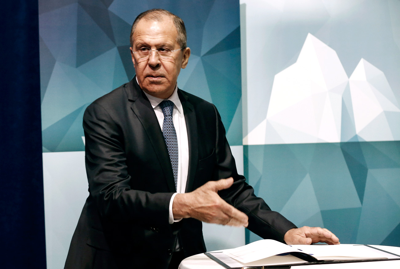 Russia's Foreign Minister Sergei Lavrov ahead of the 10th Arctic Council Ministerial Meeting. The polar region has been highly militarized since the Cold War, say experts.