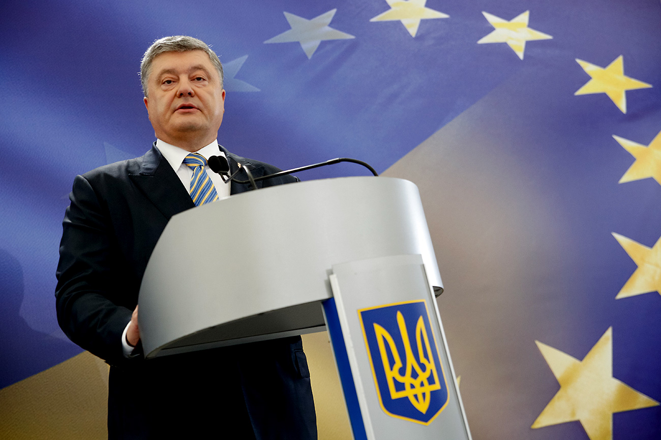 "Ukrainian President Petro Poroshenko: ""The mass Russian cyber attacks all over the world, in particular, the recent interference in the French elections, shows that time has come to act differently, more decisively."""