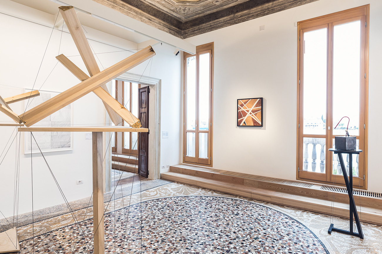 Installation. View, Space Force Construction Including Liubov' Popova, Spatial Force Construction, 1921, Oil on plywood, State Tretyakov Gallery Photo\n