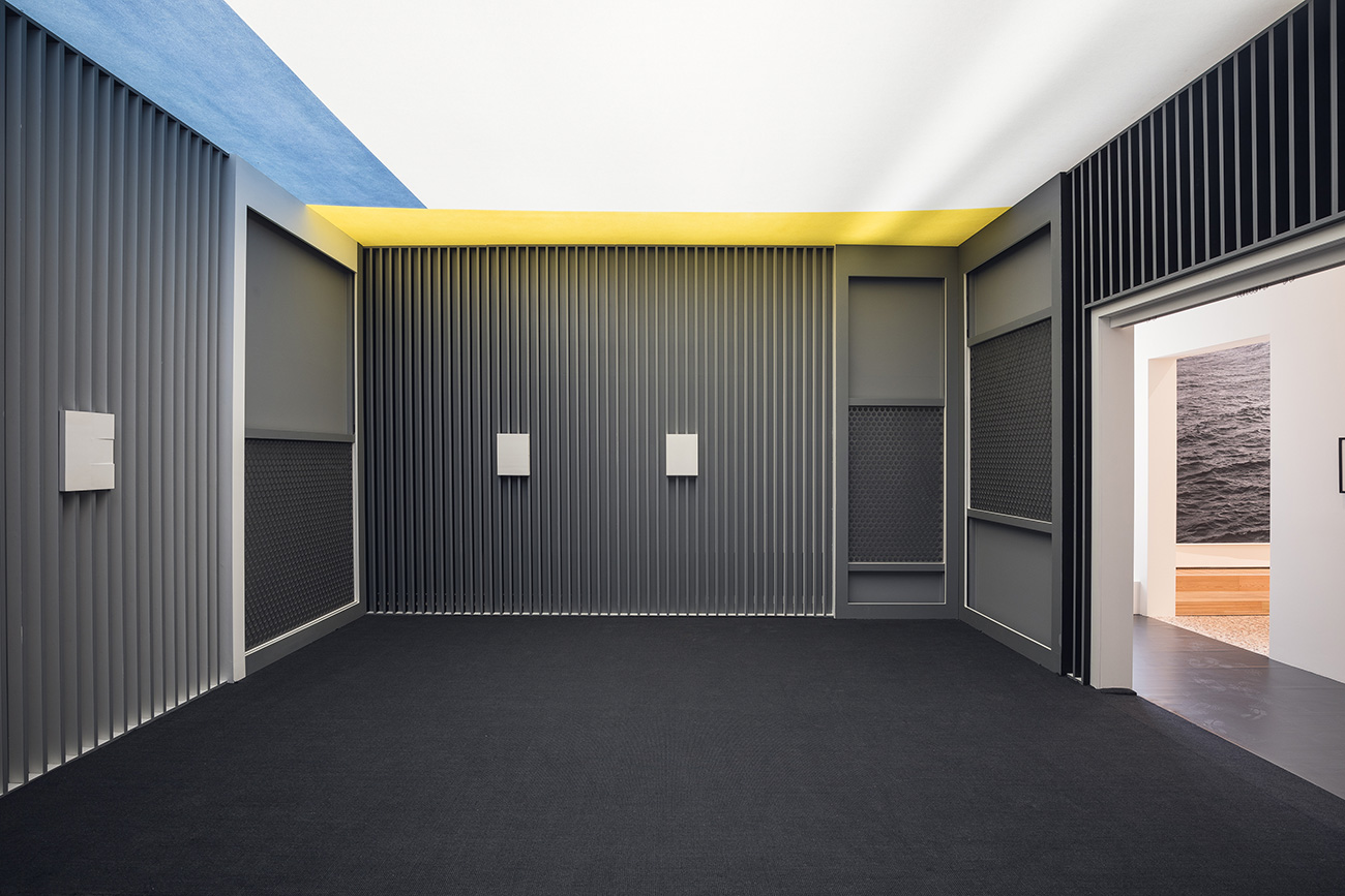 El Lissitzky. Room for Constructive Art, Internationale Kunstausstellung (International Art Exhibition), Dresden 1926 replica constructed 2017 Painted wood, metal, and fabric Produced by V-A-C Foundation\n