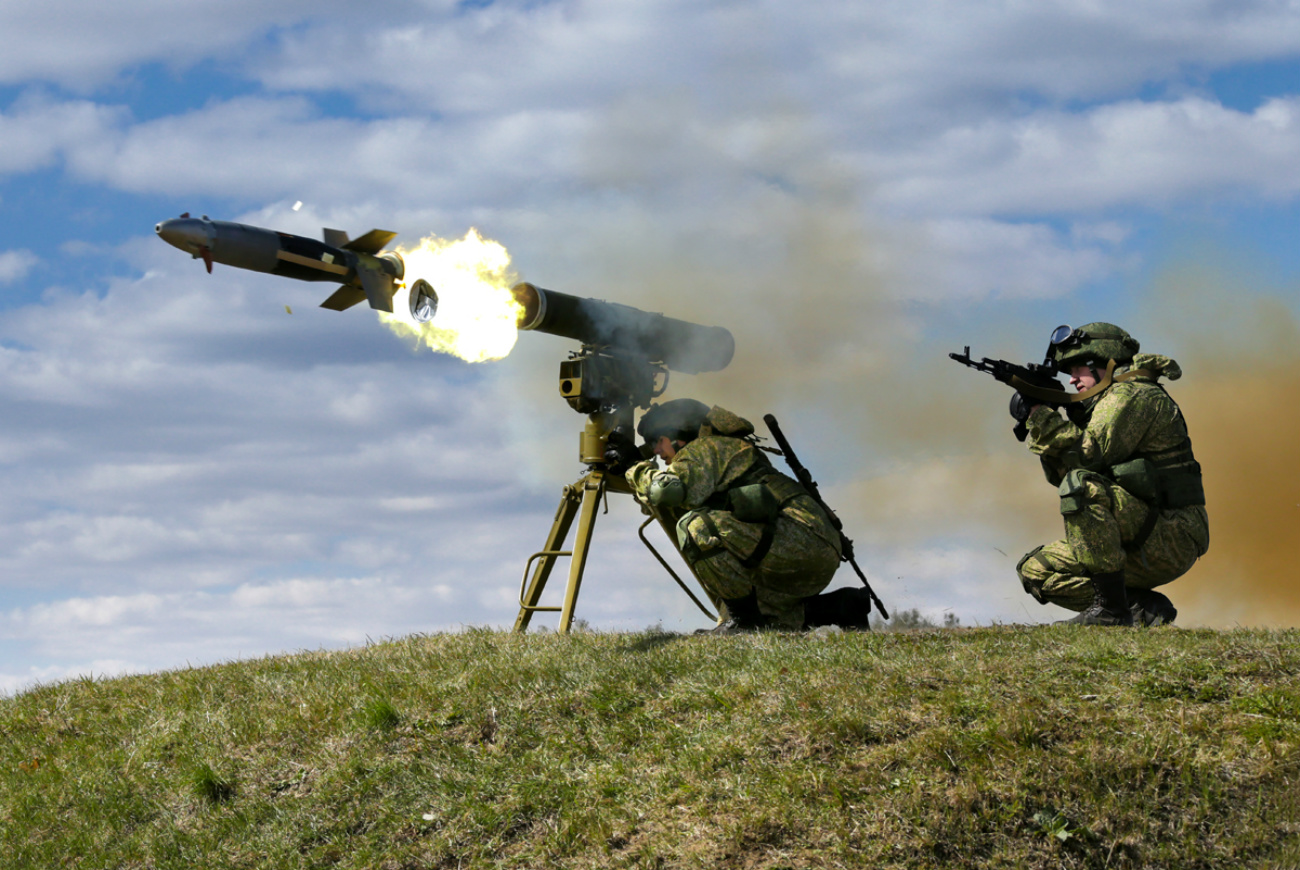 The Kornet anti-tank missile can even be used against air targets like helicopters.