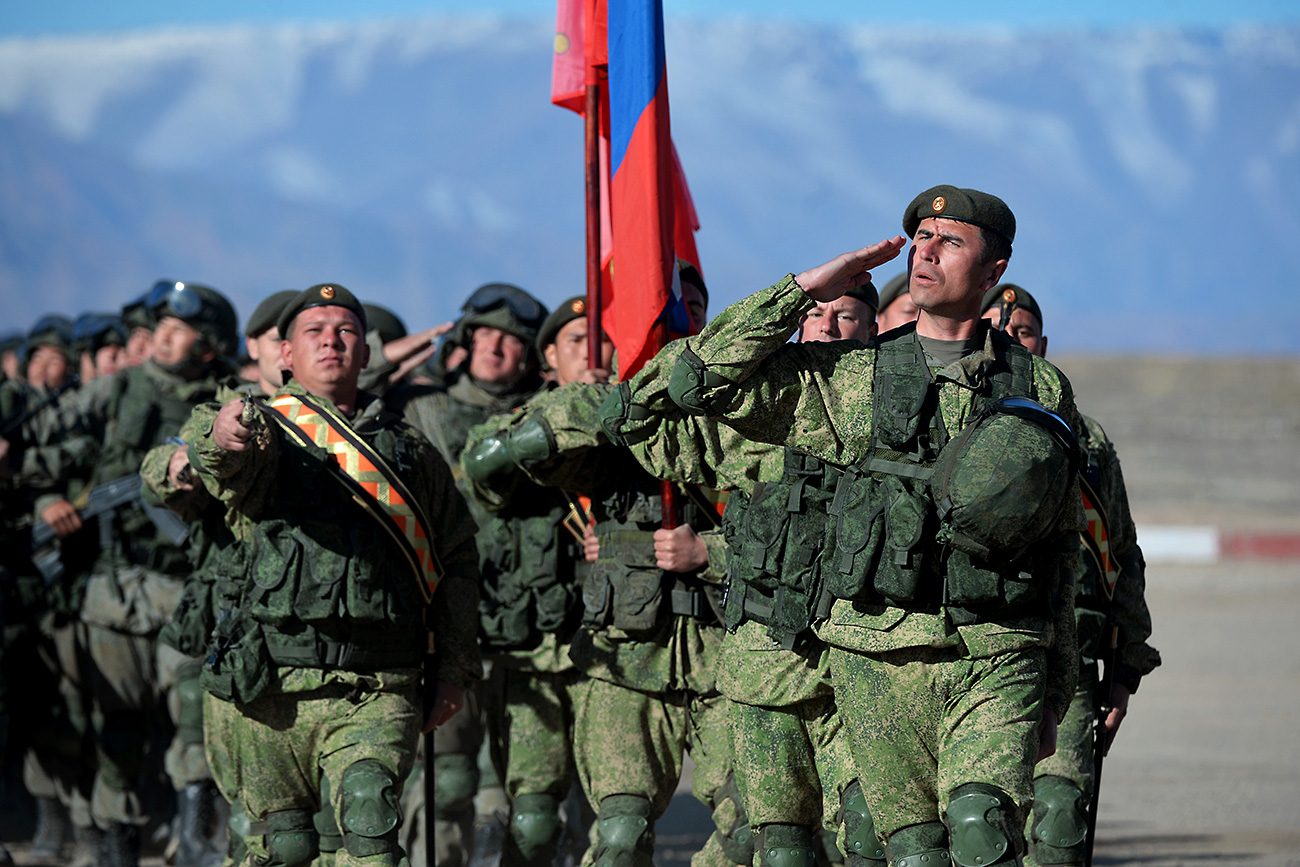The post-Soviet countries, was signed 25 years ago in 1992, but for 10 years it's validity was questionable. Photo: Russian service personnel at the Balykchy military base, Kyrgyzstan.