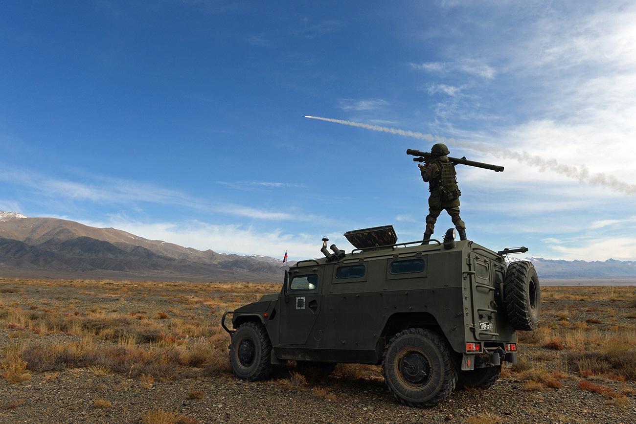 ase militare in Kyrgyzstan. Fonte: Mikhail Voskresenskiy/RIA Novosti