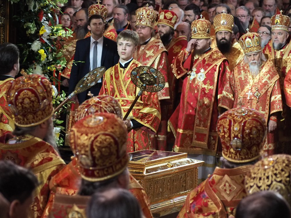 St. Nicholas's relics will stay in the Cathedral of the Savior through to July 14, after which they will be transported to St. Petersburg.