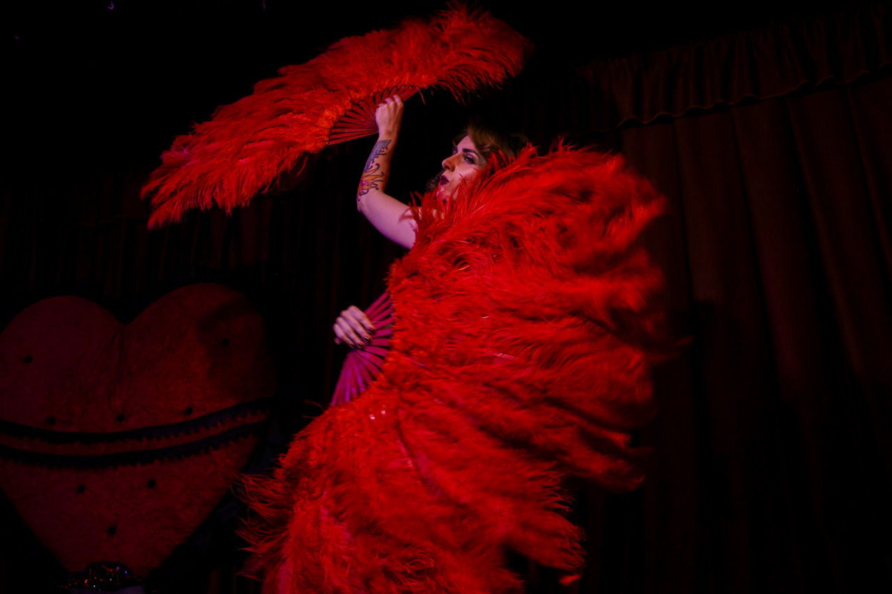 Sometimes burlesque performers try to resemble not humans, but birds or animals.