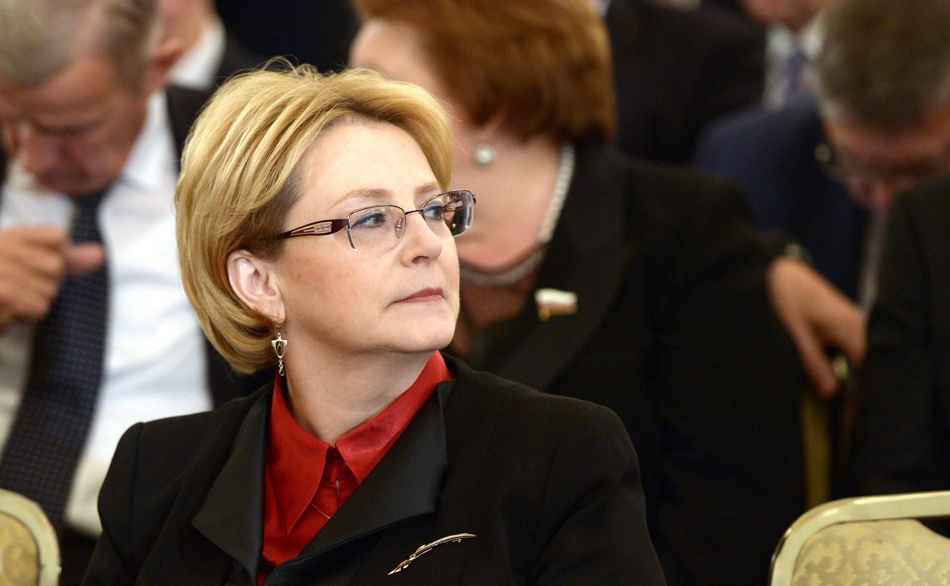Russian Health Minister Veronika Skvortsova.